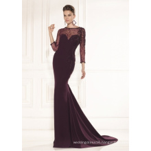 Mermaid Lace Beading Satin Evening Gowns