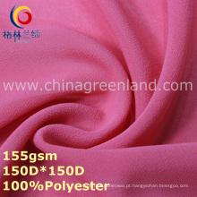 Poliéster spandex chiffon jacquard tecido para vestuário camisa (gllml345)