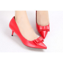 Sharp Toe Kitten Heel Lady Shoes
