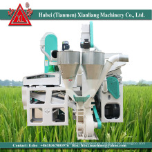 1ton/hour rice output paddy rice milling machines