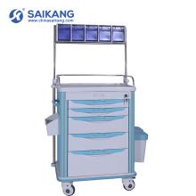 Chariot de soins infirmiers de livraison de médecine d'urgence d'ABS bon marché d'hôpital de SKR-AT120