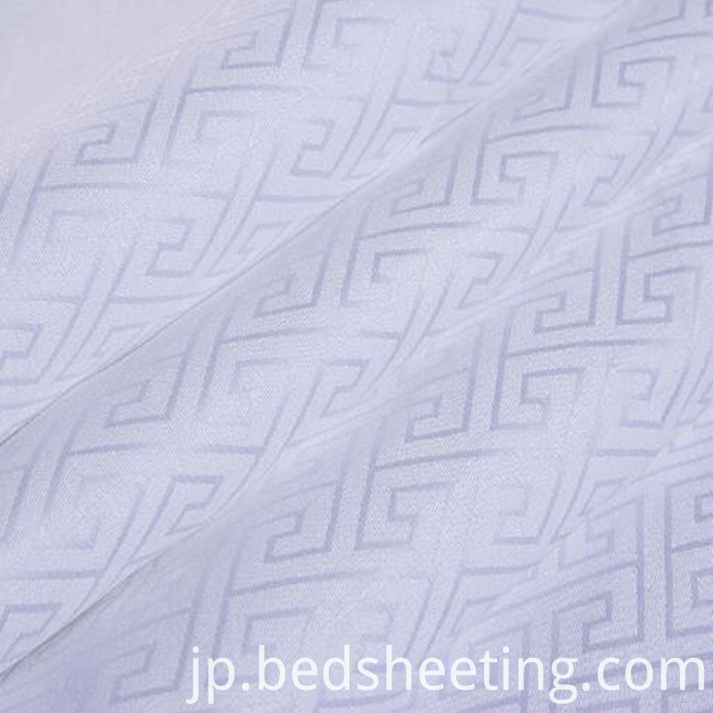 Bleached Cotton Jacquard Fabric