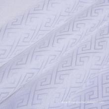 Tissu jacquard en coton uni blanchi et teint