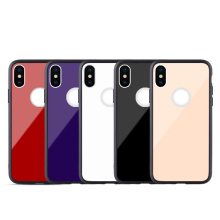Mobile Phone Tempered Glass Case For iPhone X