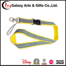 Promotion Reflective Material Lanyards with Plastic Buckle
