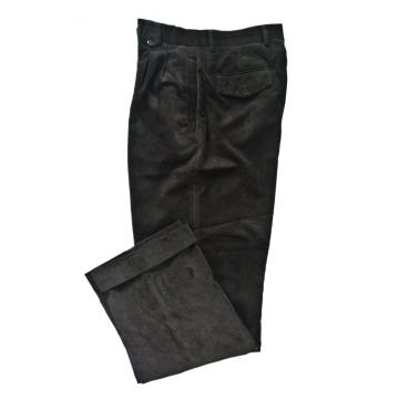 Men's Cotton Corduroy Atrovirens Trousers Suit Pants