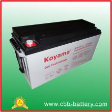 12 años de vida del diseño recargable batería solar 150ah batería de gel