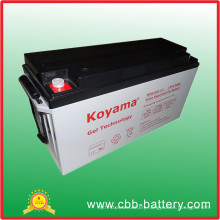 12 Years Design Life Rechargeable Solar Battery 150ah Gel Battery