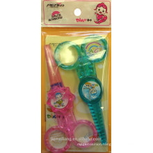 Lovely Children Hand Cartoon Scissors with plastic cover