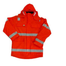 Orange Solid Working PU Waterproof Raincoat/Reflective Safety Clothing