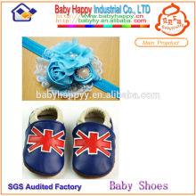 2014 wholsale top -grade zapatos de cuero para bebés