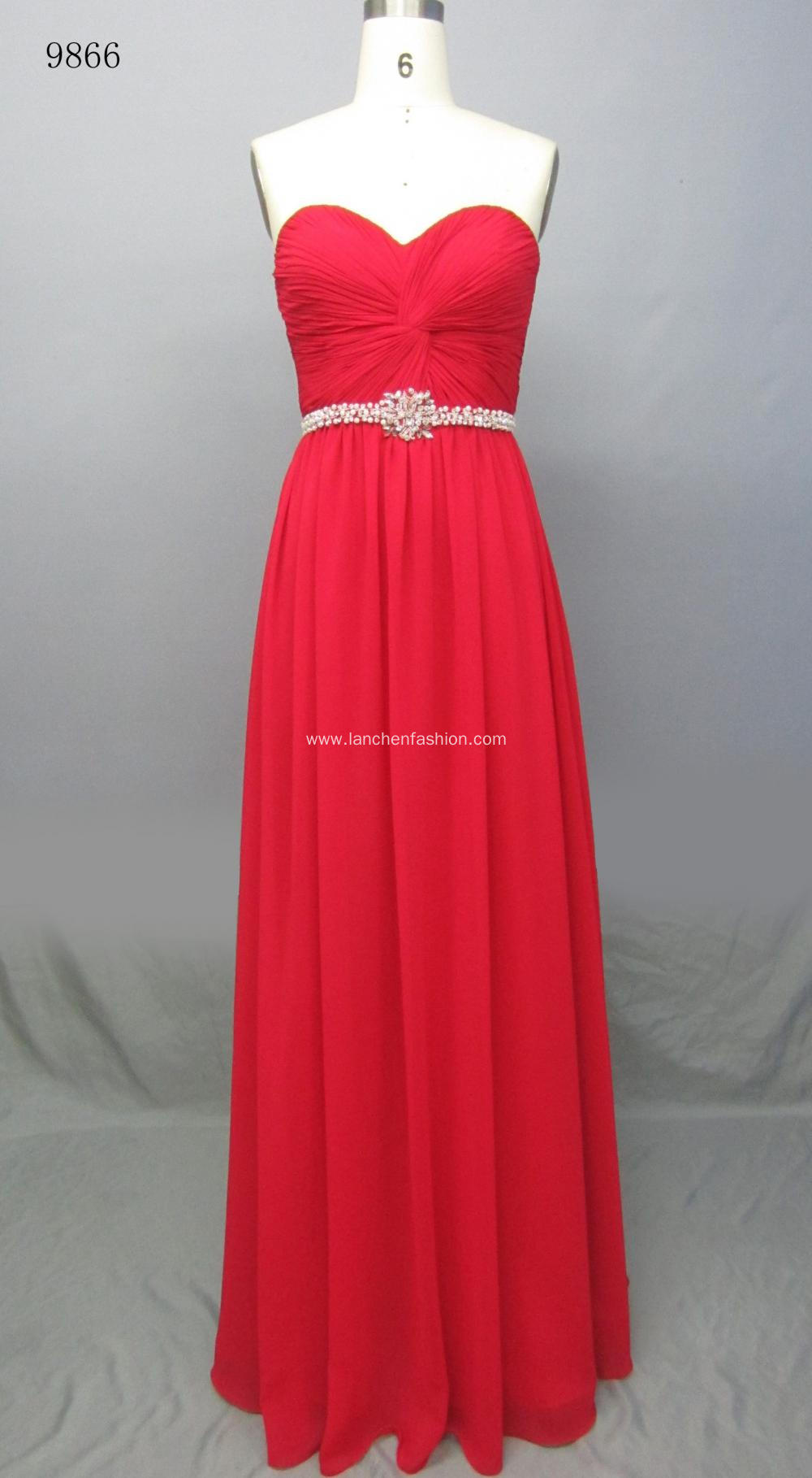 Elegant Vintage Long Bridemaid Maxi Dress