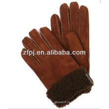 Guantes de cuero hechos a mano de alta calidad mens doble palma guantes de cuero de piel de oveja guantes de cuero