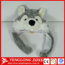 Kids favored for head shaped cute plush animal head hat