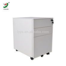 Modern furniture 3 drawers metal office mobile cabinet movable file cabinet
