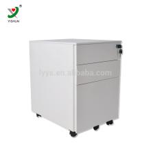 Mobiliário moderno 3 gavetas de metal armário móvel gabinete de arquivo móvel