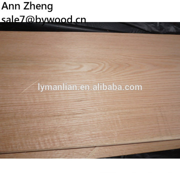 Chapa de madera natural de roble rojo corte cara