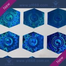 Hexagon shape blue hologram