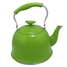 Bouilloire d'eau en acier inoxydable de couleur verte