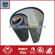 Lateral reinforced bull nose teflon glass mesh dryer belt