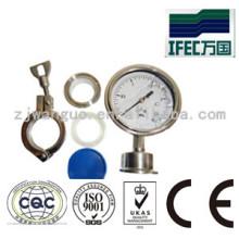 Medidor de presión de acero inoxidable sanitario (IFEC-PG100001)