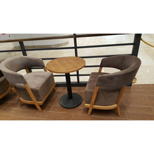 Elegant Fabric Upholstery Wood Table and Chairs Restaurant Furniture Set (FOH-RGB44)