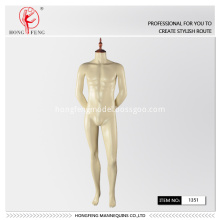 Man standing  mannequin with wooden cap
