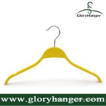 Cintre de contreplaqué jaune de qualité supérieure pour le ménage
