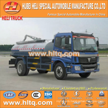 FOTON AUMAN 4x2 12000L fecal suction tank truck 160hp good quality