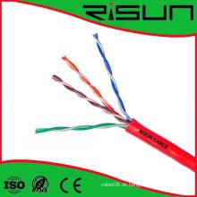 4pr Cat 5e U / UTP Solide Typ Cmr Riser Kabel