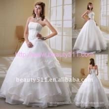 Astergarden без бретелек костей, формирующих AS035 платье-линии Белый длиной до пола Свадебные