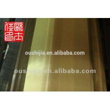 Фабрика поставку высококачественной латунной сетки ткани и люминофора сетки ткани и латунные медные сетки