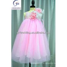Vestido de noiva com preço de fábrica Vestido de florista barato de 9 anos de idade Vestido de flor bonita para festa de casamento