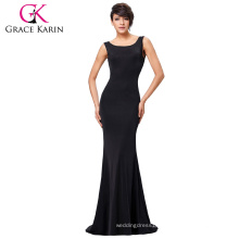 Grace Karin Sexy Occident Womens Slim Fit Sleeveless Backless Floor-Length Long Black Dress Casual Dress CL008941-1