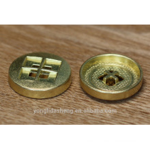 4-Holes Round Shape Gold Color Metal Snap Button For Jean