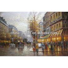 Paris Streetscape Gemälde Auf Leinwand