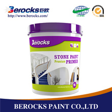 Water-based stone effect paint