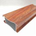 Swing cabinet door wood grain transfer aluminum profile