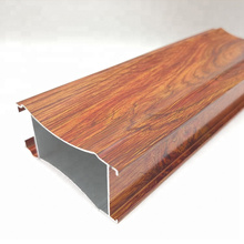 Swing cabinet door wood grain transfer aluminum profile