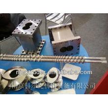 Barriles y tornillos plásticos de la máquina de la extrusora de la venta caliente