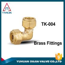 accesorios de conectores hembra de doble férula de unión tubo de codo swagelok campo petrolífero de compresión de 90 grados