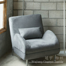 100% poliéster tela de cuero de gamuza sintética para el sofá