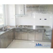 Armário de cozinha em aço inox
