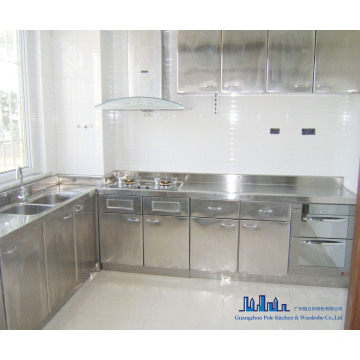 China Pole Stainless Steel Kitchen Cabinet Manufacturers