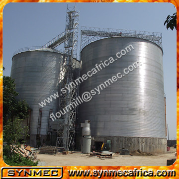 Used grain silos for wheat flour mills 1000T steel structure silos