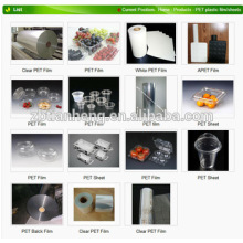 Transparent Food Grade Plastic Film Pet