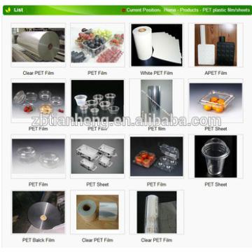 Transparent Food Grade Plastic Film Pet