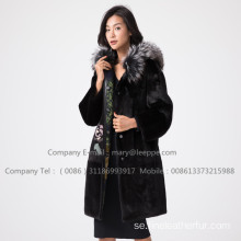 Winter Reversible Fur Overcoat For Lady