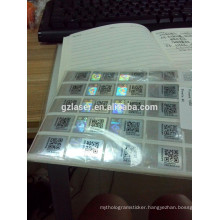 Hologram qr code security waterproof logo sticker