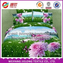 3D flat screen disperse printing polyester bedsheet fabric